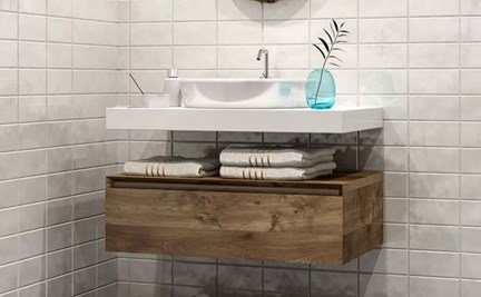 storage space in bathroom