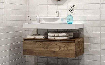 storage space in bathroom